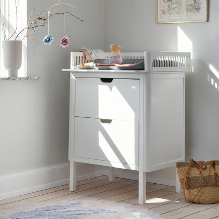 Sebra Commode met changing unit 2 lades classic white lifestyle