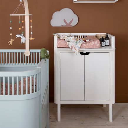 Sebra Commode met changing unit 2 deuren classic white lifestyle