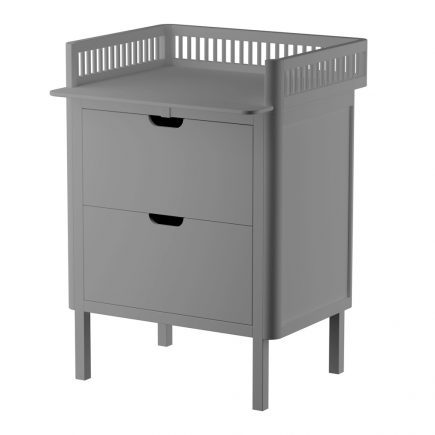 Sebra commode met changing unit 2 lades classic grey