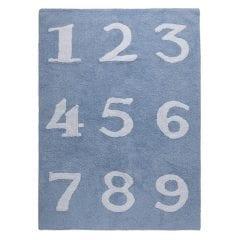 Lorena Canals - Vloerkleed katoen kinderkamer 123 blue