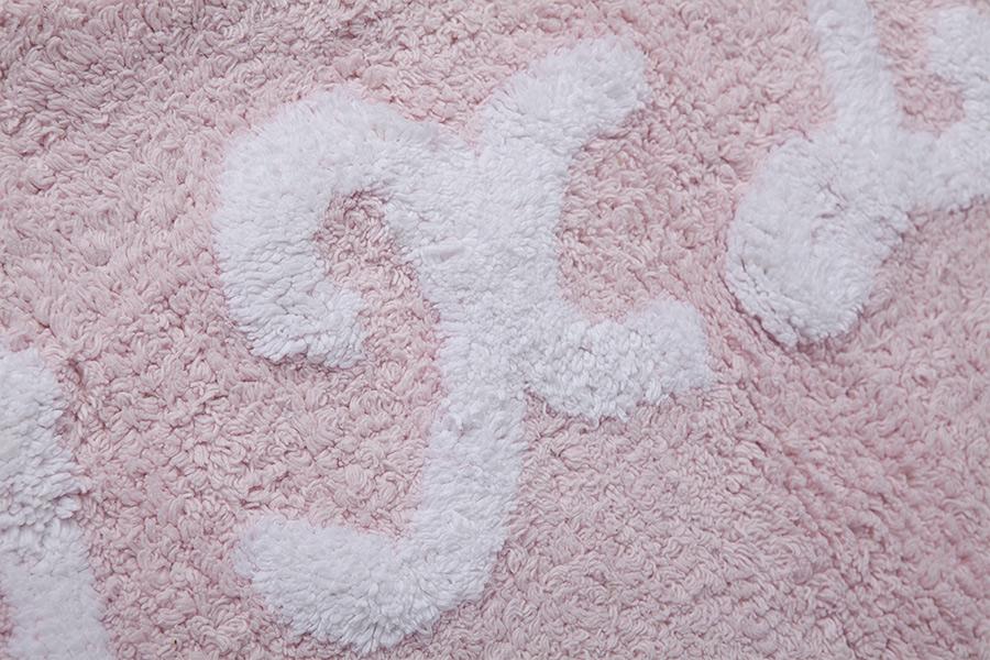 Lorena Canals   vloerkleed katoen kinderkamer ABC pink 2