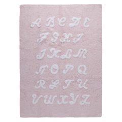 Lorena Canals   vloerkleed katoen kinderkamer ABC pink