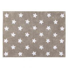 Lorena Canals vloerkleed katoen kinderkamer mouse stars white