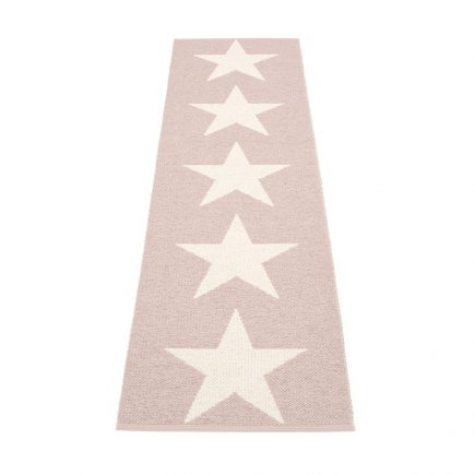 Pappelina vloerkleed kinderkamer Viggo Star pale rose vanilla