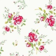 Room Seven - Behang meisjeskamer Winter poppies ivory