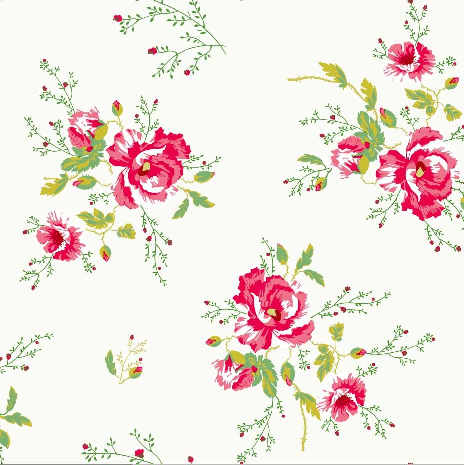 Room Seven – Behang meisjeskamer Winter poppies