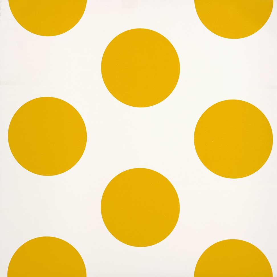 Room Seven Stippen behang Dots yellow - Behang Stippen