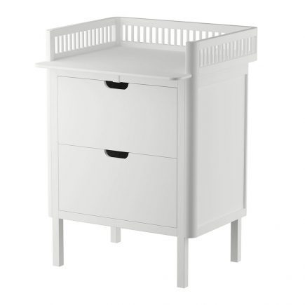 Sebra Commode met changing unit 2 lades classic white