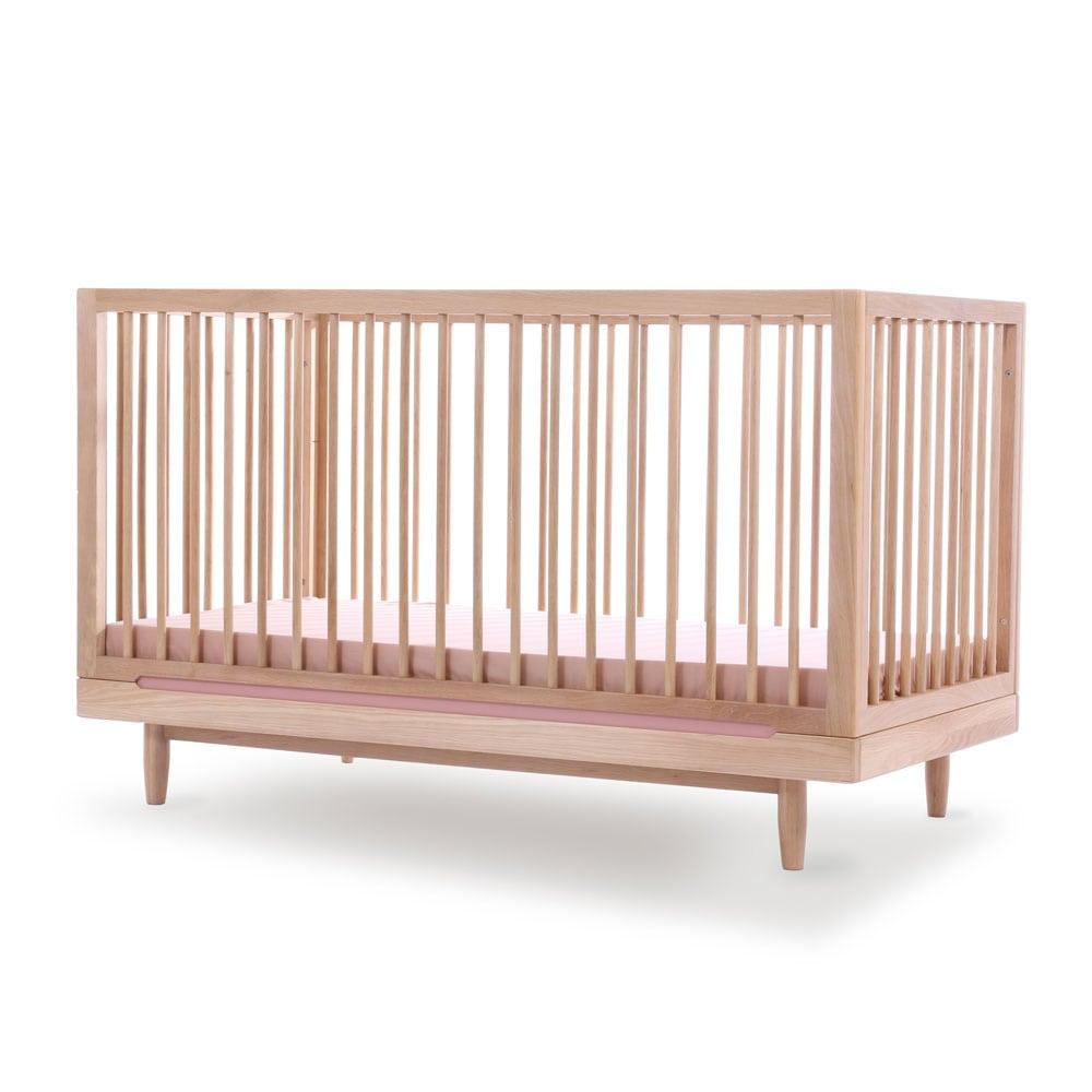 Nobodinoz Eiken ledikant Pure variatie strip pink