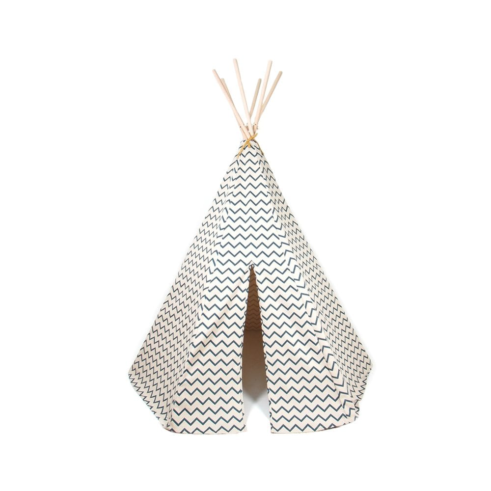 Nobodinoz Kinder tipi Zigzag in blue