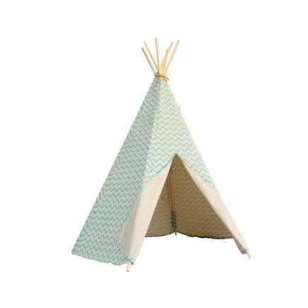 Nobodinoz Kinder tipi Zigzag in green