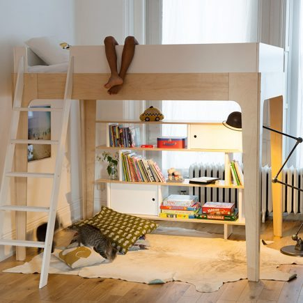 Oeuf NY Loft bed Perch in birch
