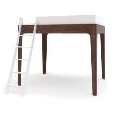 Oeuf NY Loft bed Perch in walnut
