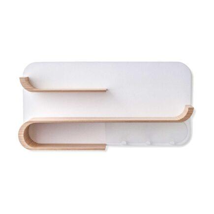Rafa-kids - M Shelf met wit metaal - natural