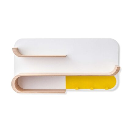 Rafa-kids - M Shelf met geel metaal - natural