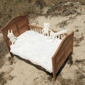 Heel Wit – Dekbedovertrek 100 x 135 cm Ripple