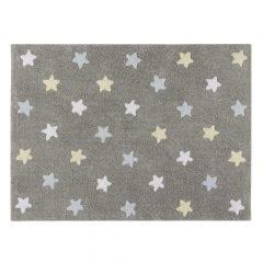 Lorena Canals - Vloerkleed met sterren Tricolor Star grey blue