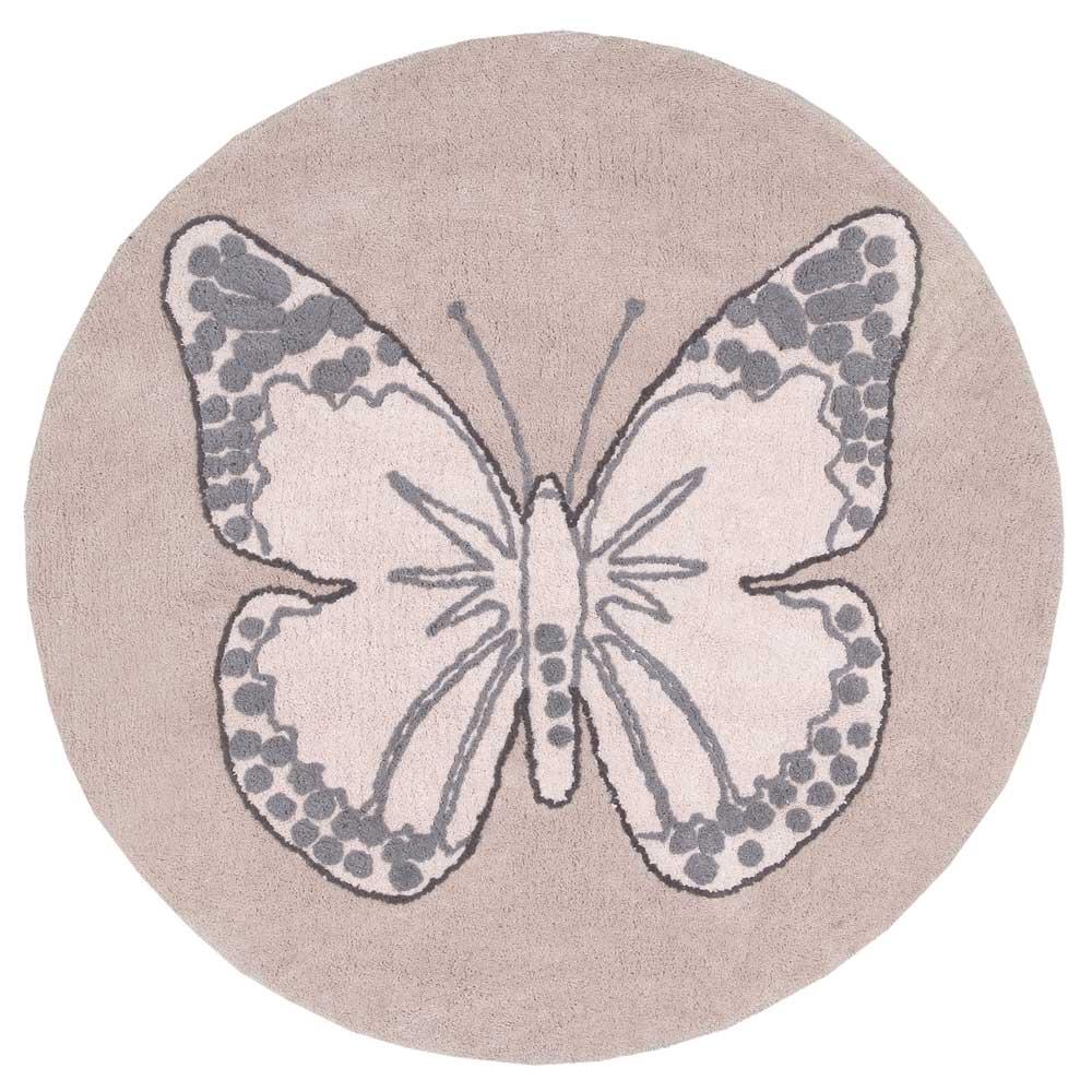 Lorena Canals – Vloerkleed rond – Butterfly – Vintage Nude – ø 140 cm