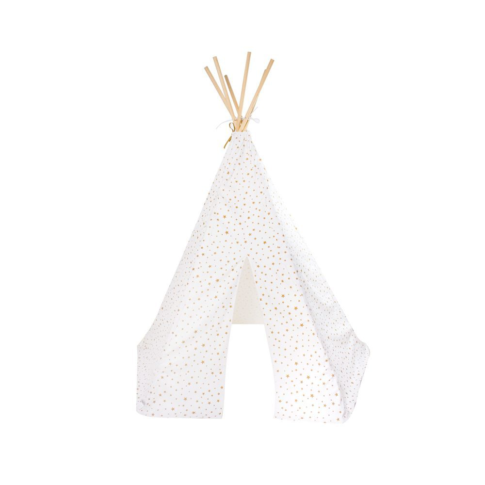 kindertipi stars sand white nobodinoz online kopen gratis verzending. Black Bedroom Furniture Sets. Home Design Ideas