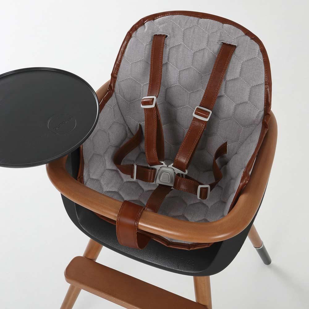 Kinderstoel OVO City, tuigje leatherlook brown
