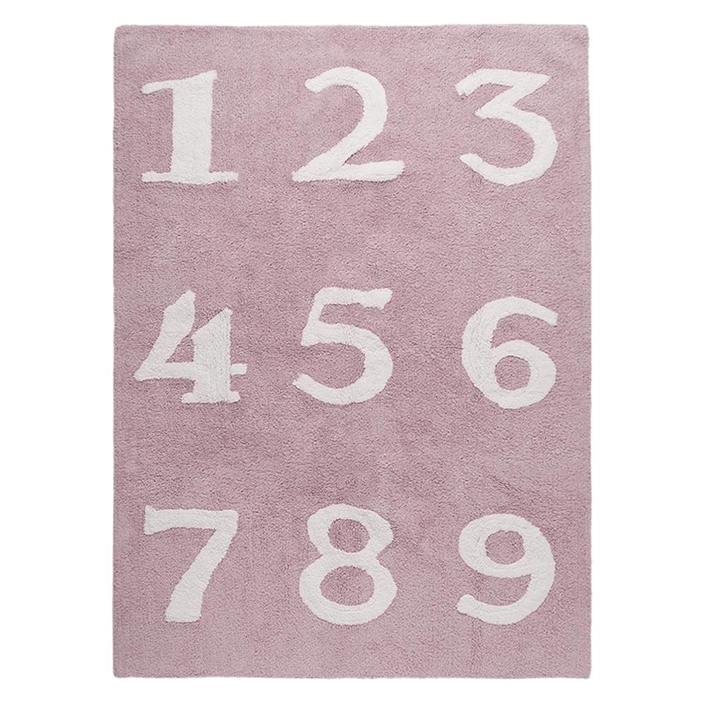 Lorena Canals vloerkleed katoen kinderkamer 123 pink
