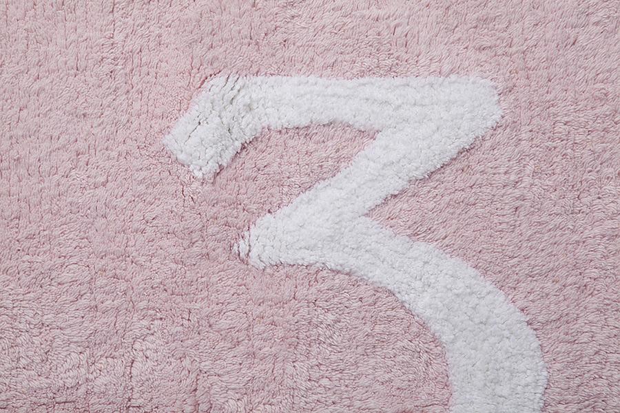 Lorena Canals   vloerkleed katoen kinderkamer 123 pink2