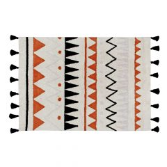 Groot vloerkleed Azteca natural terracotta