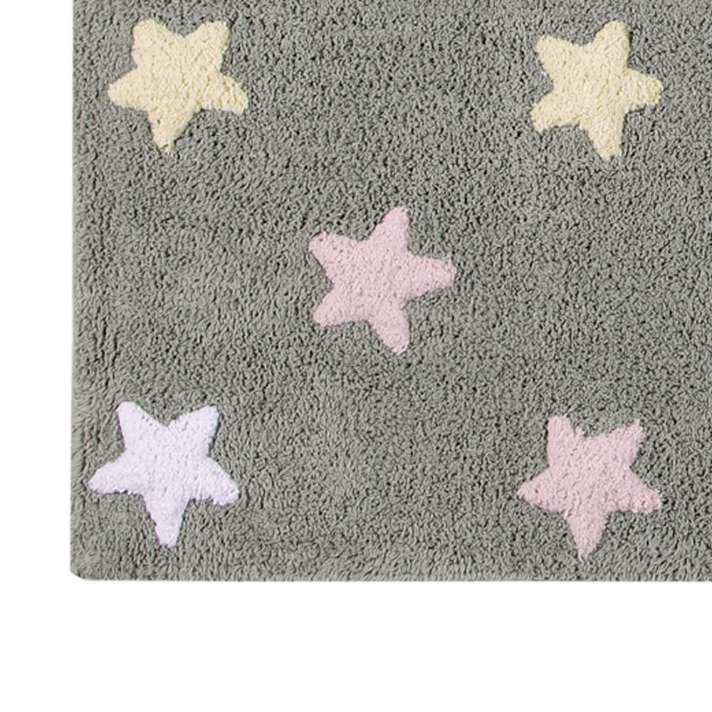 Lorena Canals   Vloerkleed met sterren Tricolor Star grey pink2