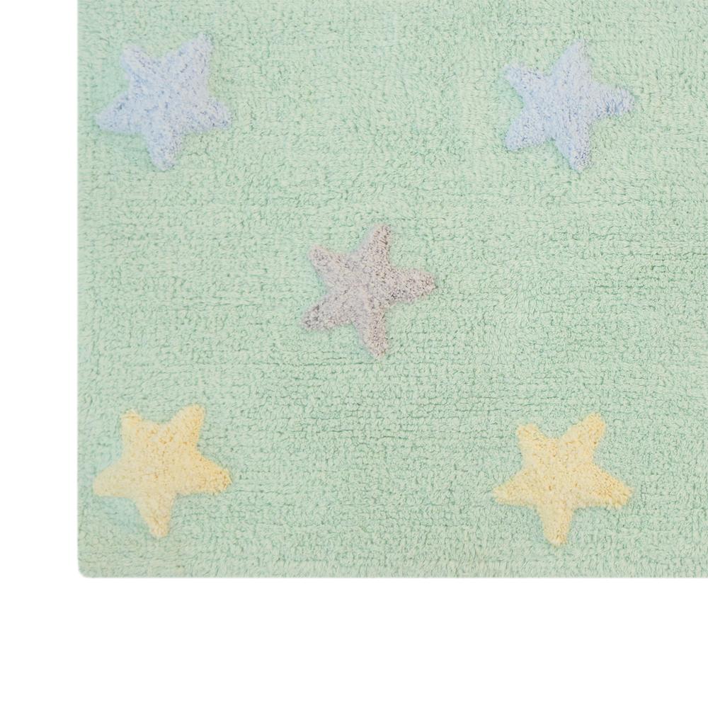 lorena canals - vloerkleed met sterren tricolor soft mint, Deco ideeën