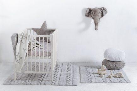 Lorena Canals Kindervloerkleden Trenzas in pearl grey