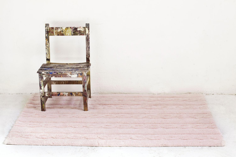 Lorena Canals Kindervloerkleden Trenzas in soft pink