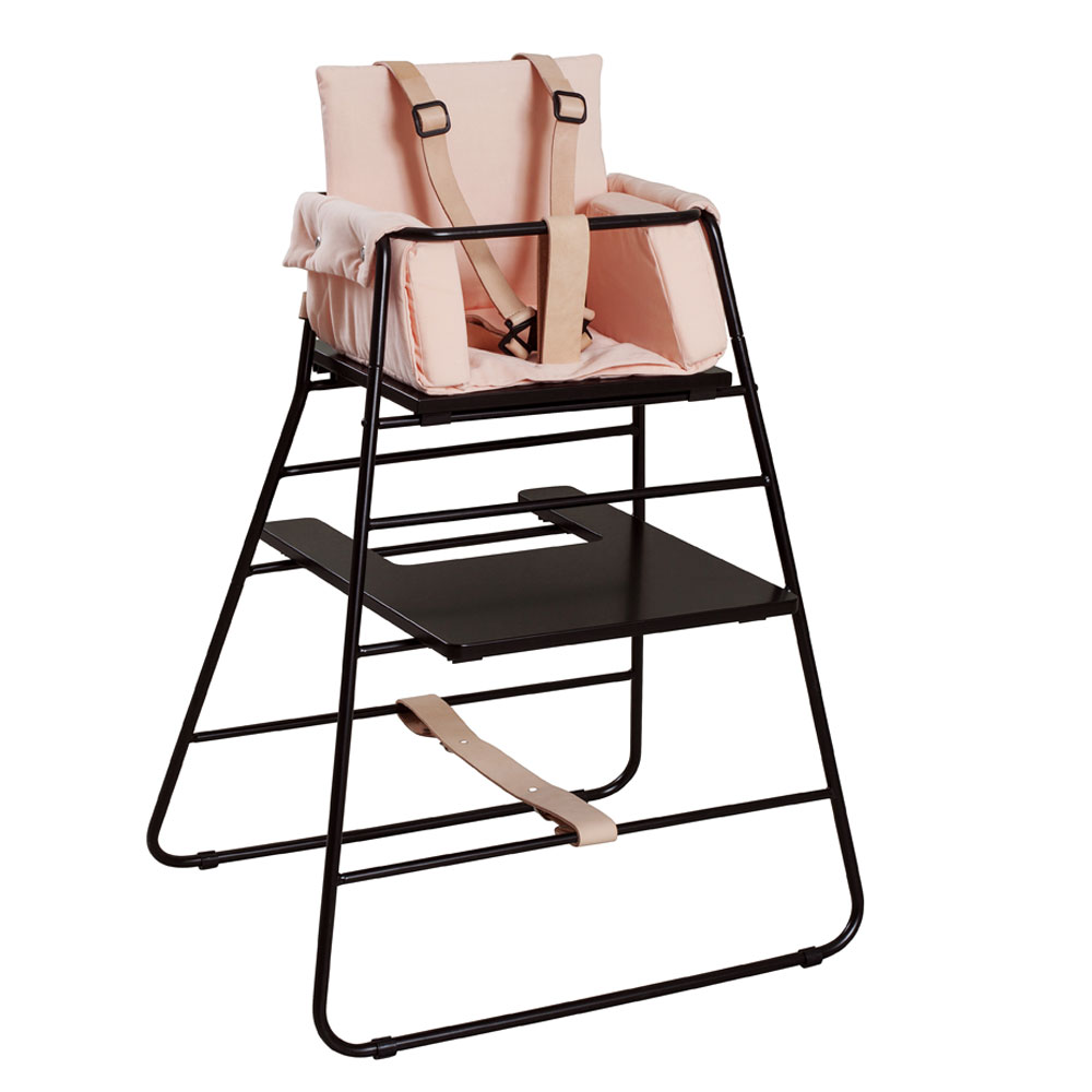 BudtzBendix Kinderstoel black met block rosy peach