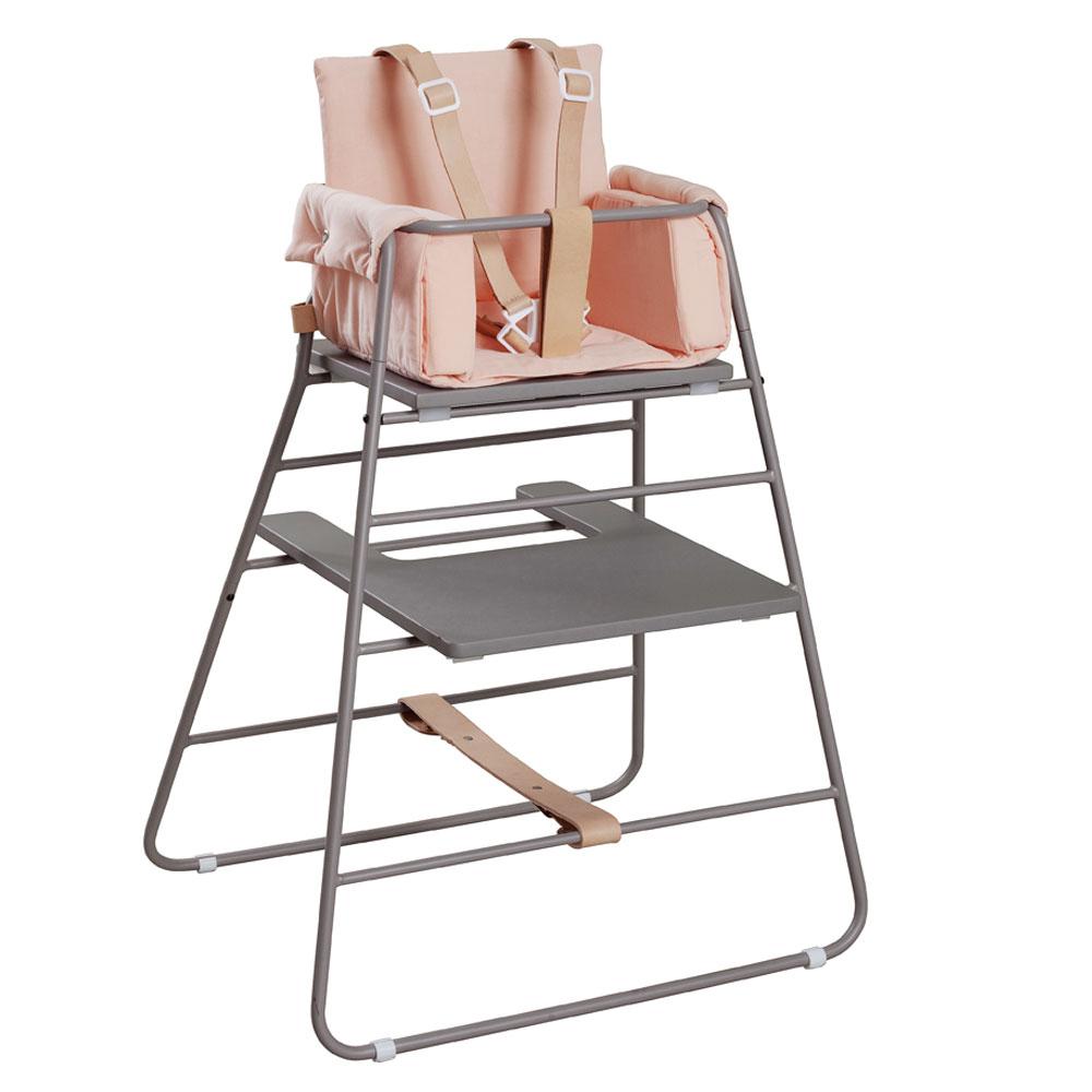 BudtzBendix Kinderstoel grey met block rosy peach