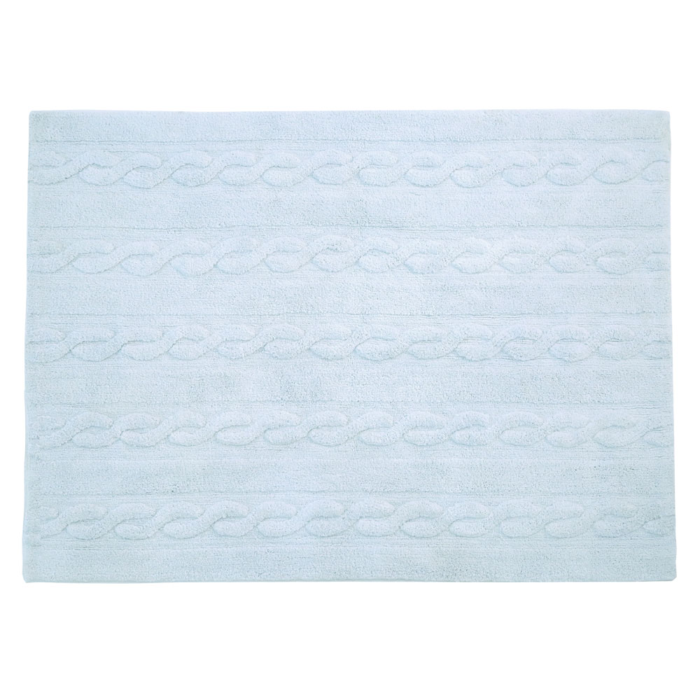 Lorena Canals – Kindervloerkleden – Trenzas – Soft Blue – 120 x 160 cm