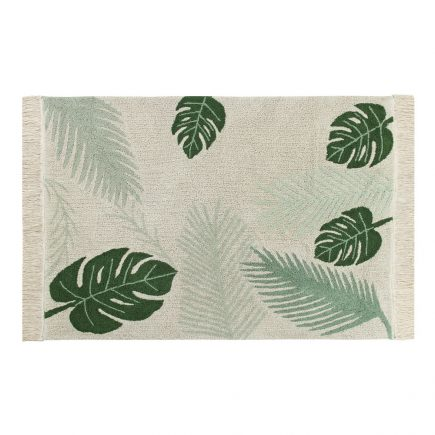 Lorena Canals groot vloerkleed Tropical 140 x 200 cm green