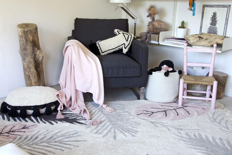 Lorena Canals groot vloerkleed Tropical 140 x 200 cm pink