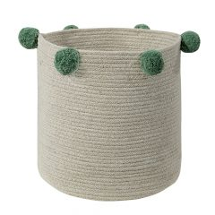 Lorena Canals opbergmand Bubbly natural green 30 x 30 x 30 cm