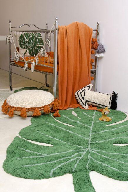 Lorena Canals retro vloerkleed Monstera 120 x 160 cm