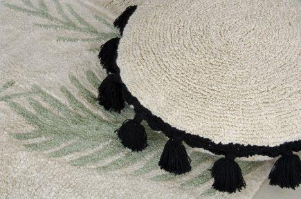 Lorena Canals sierkussens Circle 48 cm black