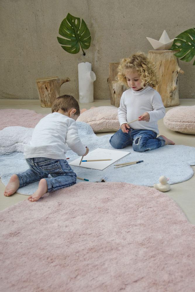 Lorena Canals vloerkleed babykamer Love 160 x 180 pink