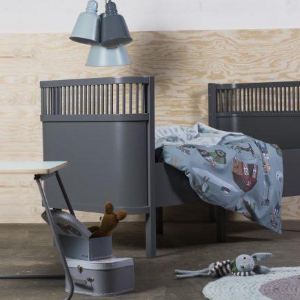 Sebra babybedje Kili nieuw model in dark grey