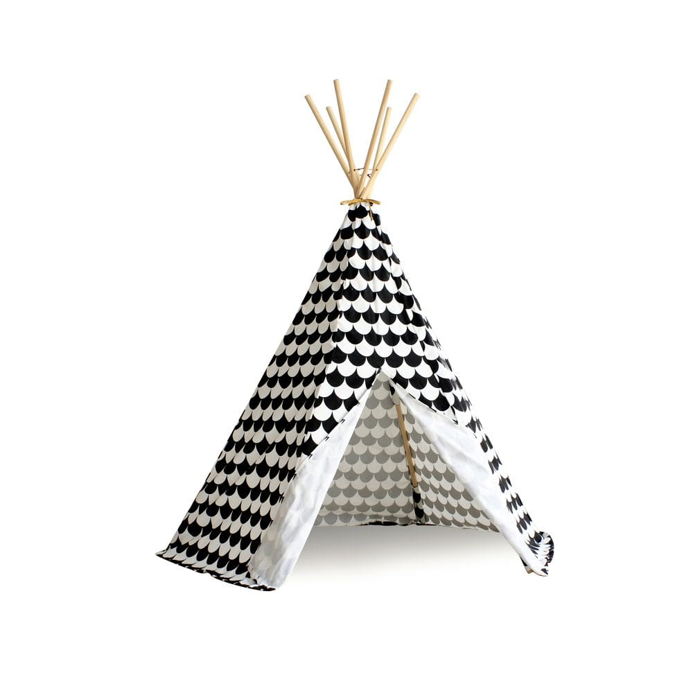Nobodinoz Kinder tipi Scales in black