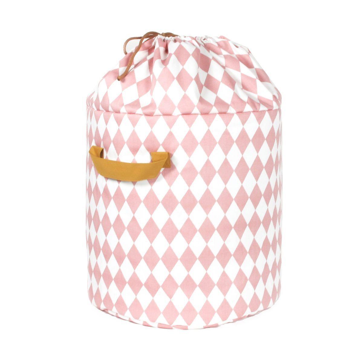 Nobodinoz Baobab toy bag diamonds in pink