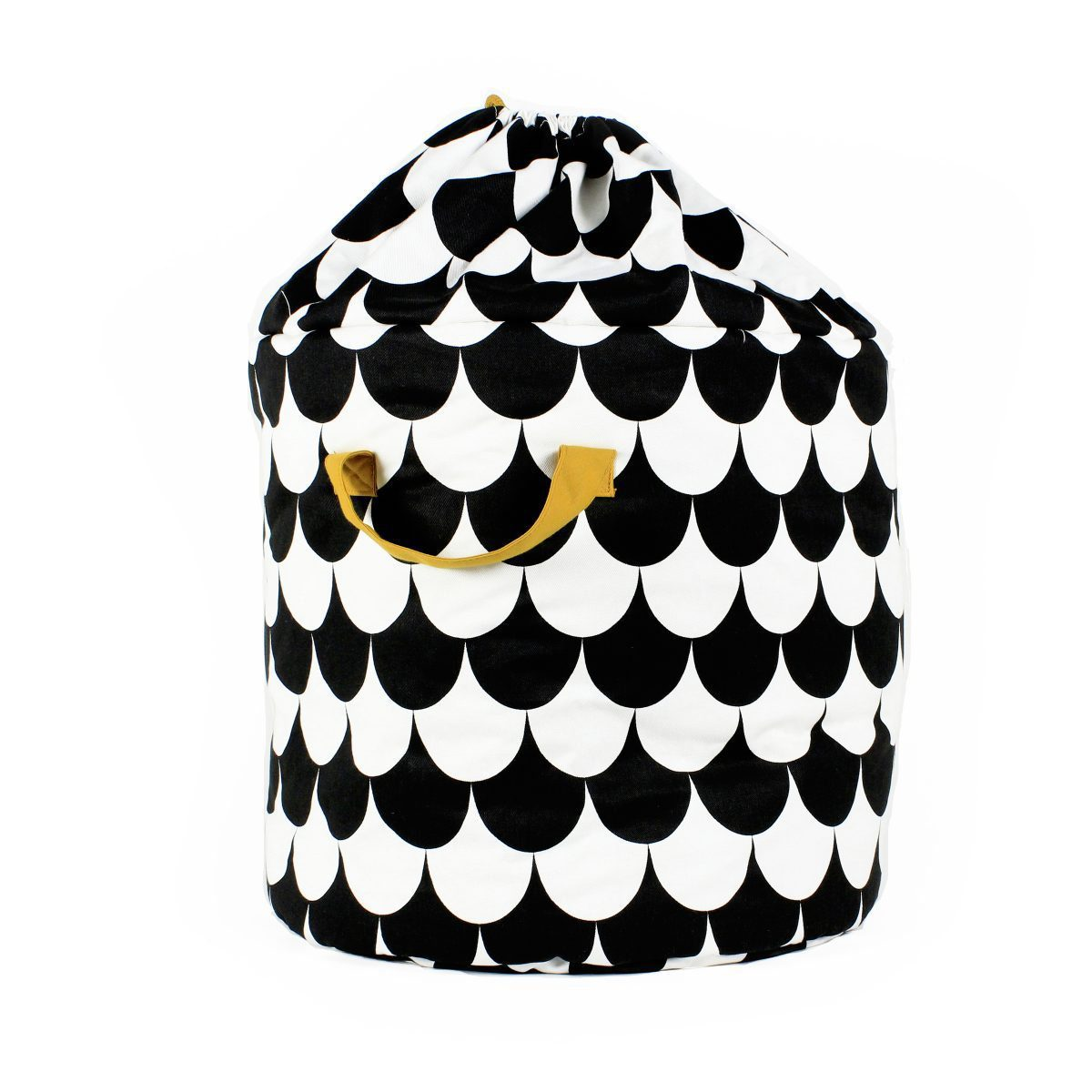 Nobodinoz Baobab toy bag scales in black