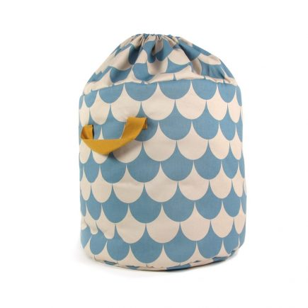 Nobodinoz Baobab toy bag scales in blue