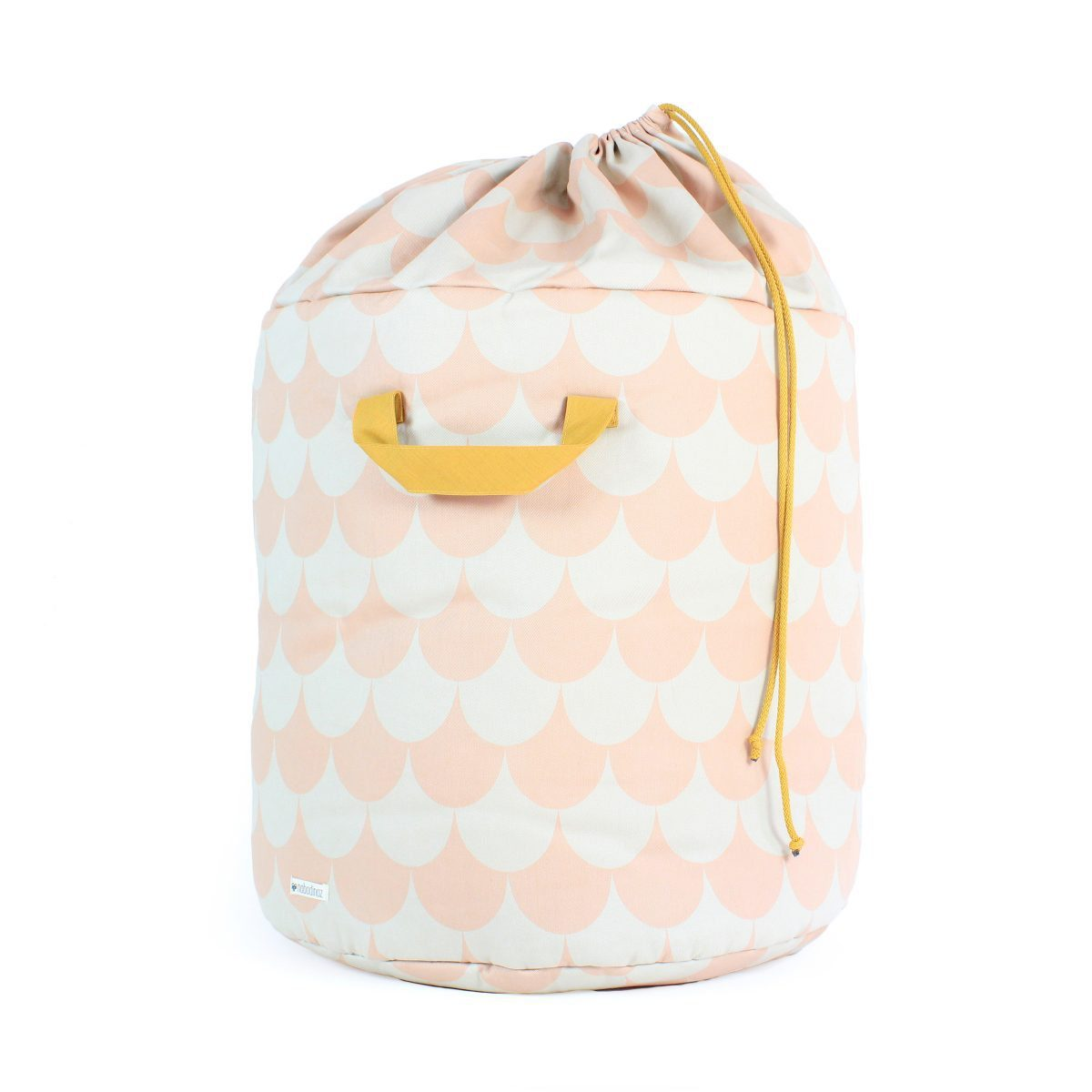 Nobodinoz Baobab toy bag scales in pink