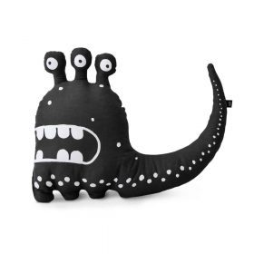Ooh Noo – Kinderkussen – Three-eyed Monster – Zwart