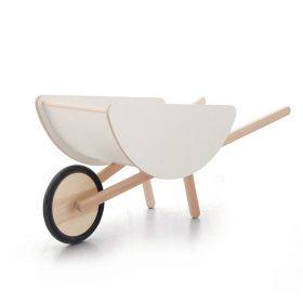 Ooh Noo – Speelgoedkruiwagen – Hout/Wit