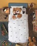 SNURK – Kinderdekbedovertrek – Teddy – 140 x 200 cm