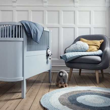 Sebra babybedje Kili nieuw model in cloud blue